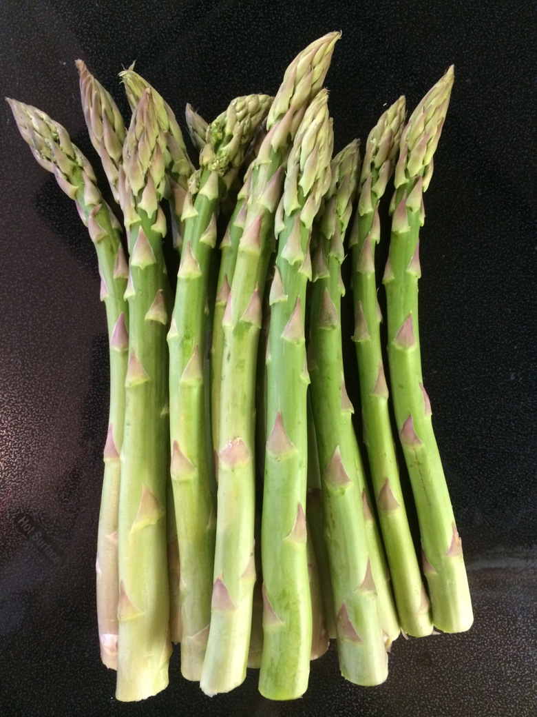 Fat, local, seasonal asparagus